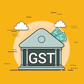 Good service tax (gst) concept met financiële elementen.