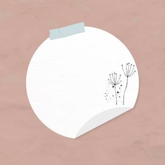 Goodnotes stickers vector cirkel papier element in memphis stijl