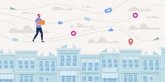 Goods express delivery service, verzendstatus online volgen