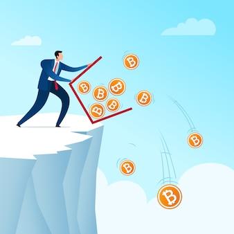 Gooi bitcoin valuta's weg