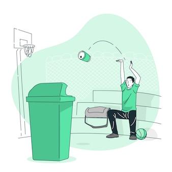 Gooi concept illustratie