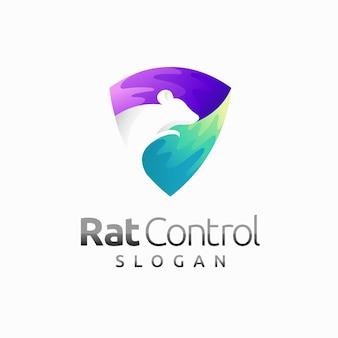 Gophers-logo met schildconcept rattencontrole-logo