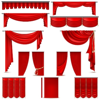 Gordijnen en draperieën interieurdecoratie-object.