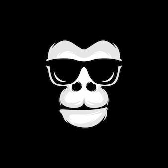 Gorila coole illustratie in zwart