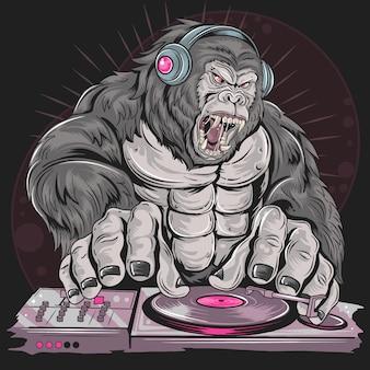 Gorilla dj-muziekpartij