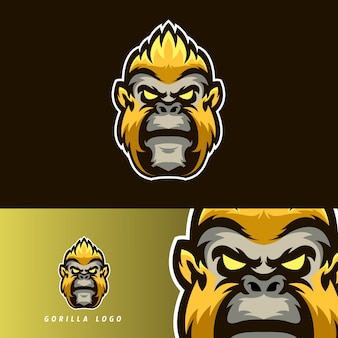 Gorilla esport gaming mascotte embleem