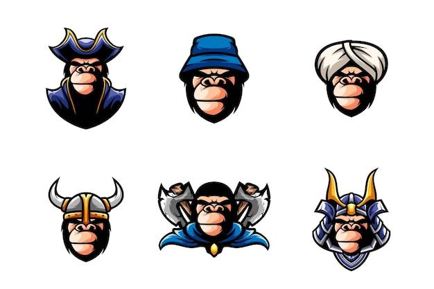 Gorilla head set design