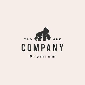 Gorilla hipster vintage logo