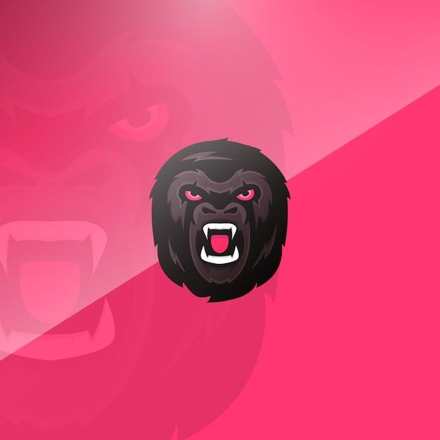 Gorilla hoofd achtergrond