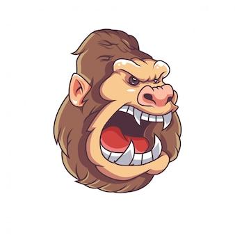 Gorilla hoofd illustratie