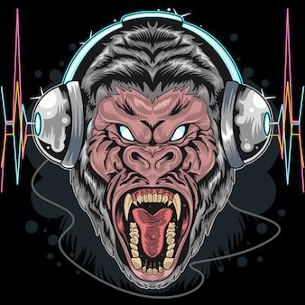 Gorilla hoofdtelefoon