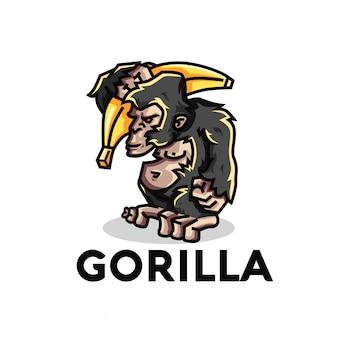 Gorilla illustratie