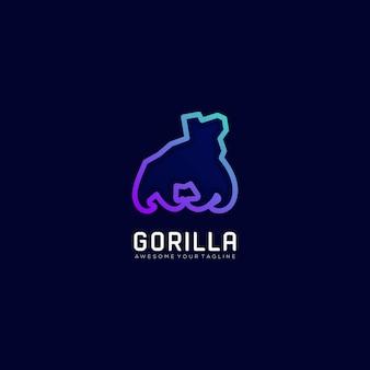 Gorilla kleurverloop kleurrijk modern