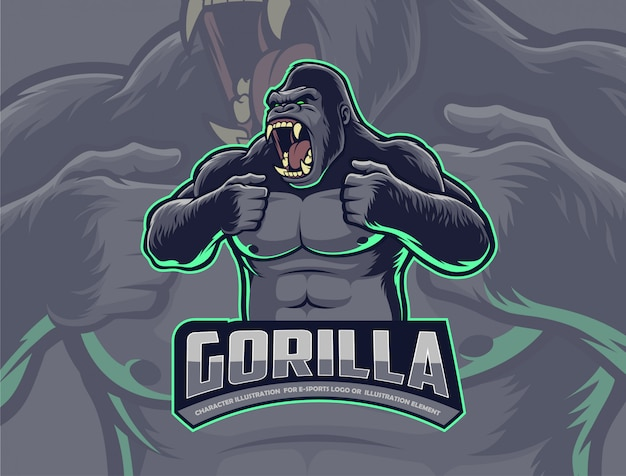 Gorilla kloppend borst
