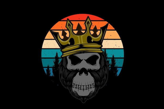Gorilla koning illustratie ontwerp