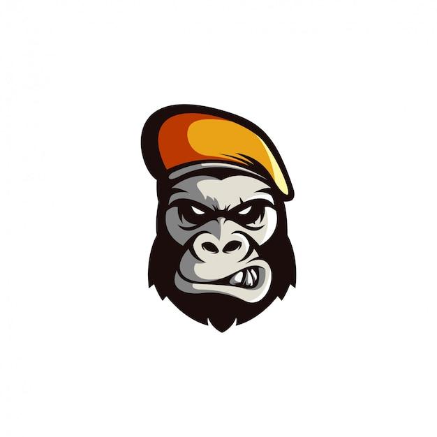 Gorilla logo-ontwerp gratis