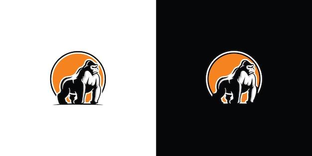 Gorilla-logo sjabloonontwerp premium vector