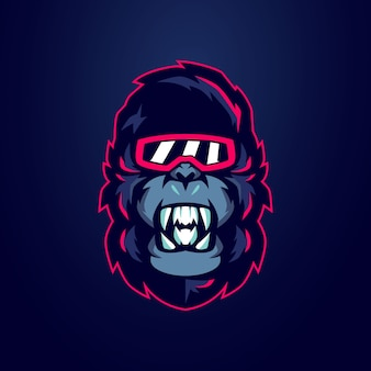Gorilla mascotte logo