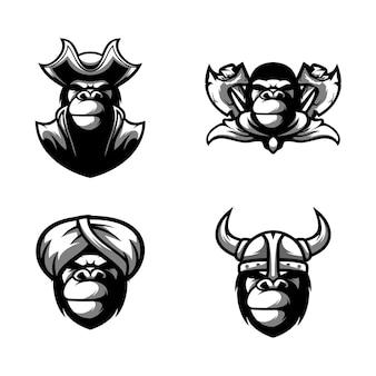 Gorilla mascotte ontwerp vector