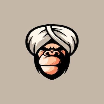 Gorilla mascotte ontwerp