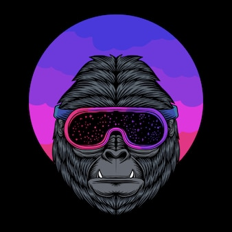 Gorilla space illustratie