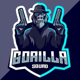Gorilla squad esport logo-ontwerp