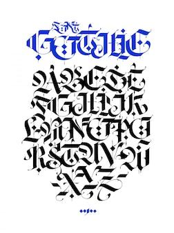 Gotisch, engels alfabet.