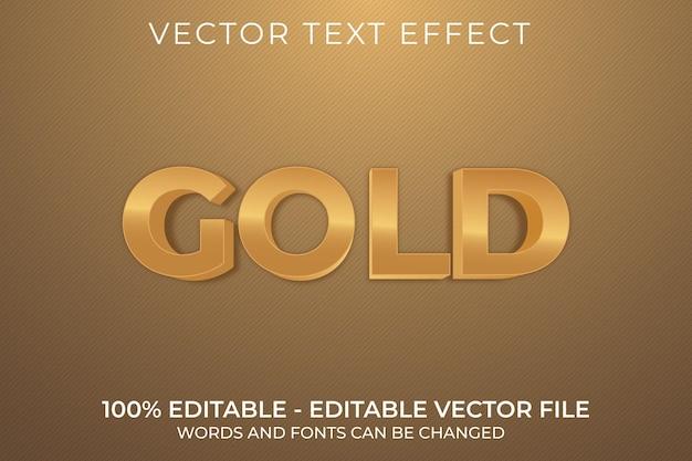 Goud 3d bewerkbaar teksteffect