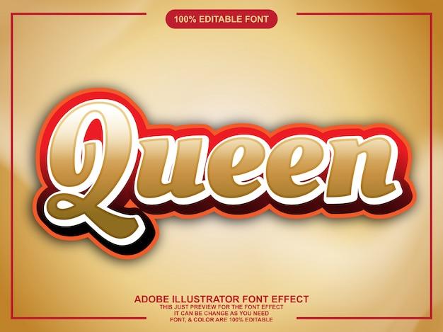 Goud bewerkbaar lettertype-effect in stijl
