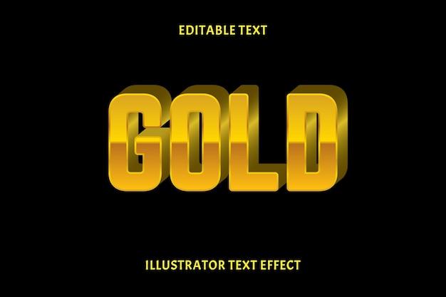 Goud bewerkbaar tekst effect