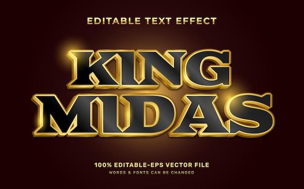 Goud bewerkbaar teksteffect