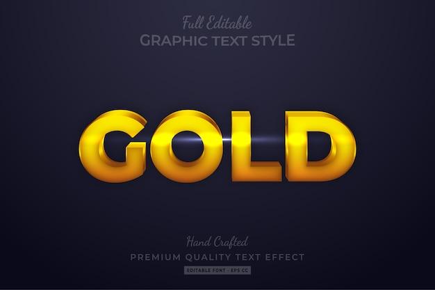 Goud bewerkbare aangepaste tekststijl effect premium