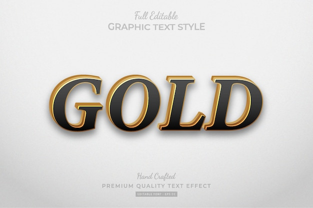 Goud elegant bewerkbaar premium teksteffect