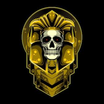 Goud en schedel