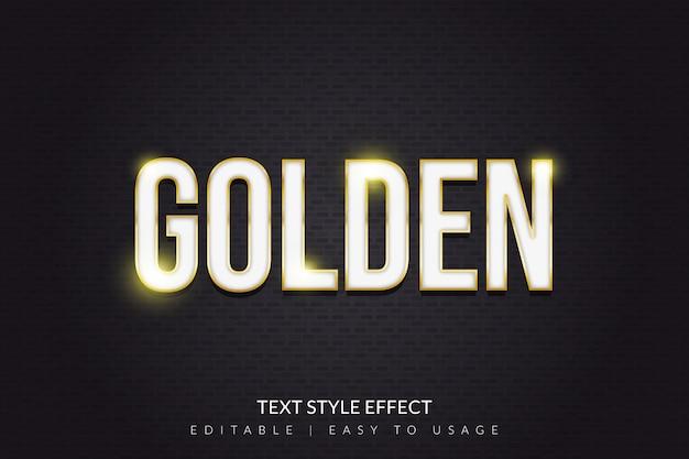 Goud en wit tekststijl effect