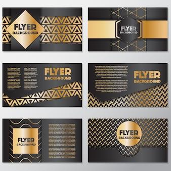 Goud en zwart flyer ontwerp