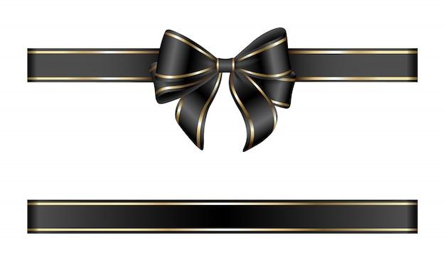 Goud en zwarte strik en lint