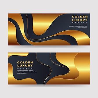 Goud gedetailleerd bannerspakket