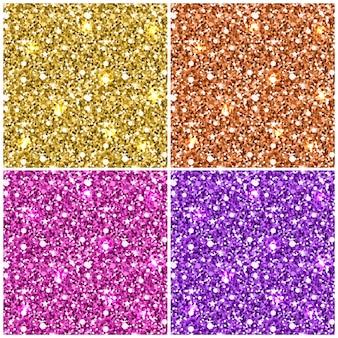 Goud glitter naadloos patroon