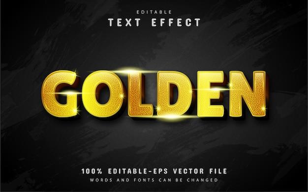 Goud glitter teksteffect geïsoleerd op zwart