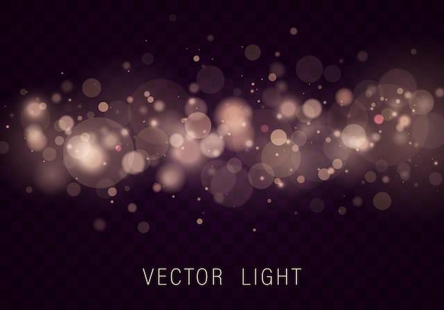 Goud licht abstract gloeiend bokeh lichteffect