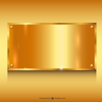 Goud metaal bannerachtergrond