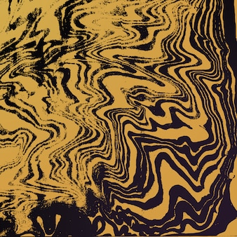 Goud metaal kleur water schilderij suminagashi abstracte decoratie hand getekend donkere achtergrond