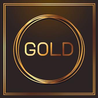 Goud metallic lettertype