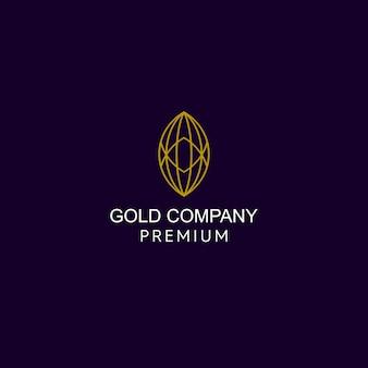 Goud ovaal modern logo