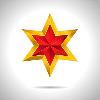 Goud rood ster illustratie kunst symbool