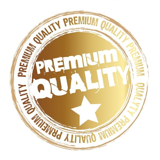 Goud stempel premium kwaliteit geïsoleerd