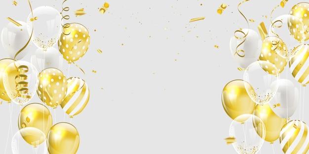 Goud witte ballonnen