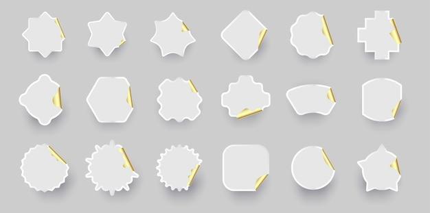 Goud witte sticker vorm collectie.