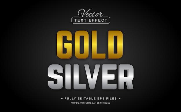 Goud zilver bewerkbaar teksteffect